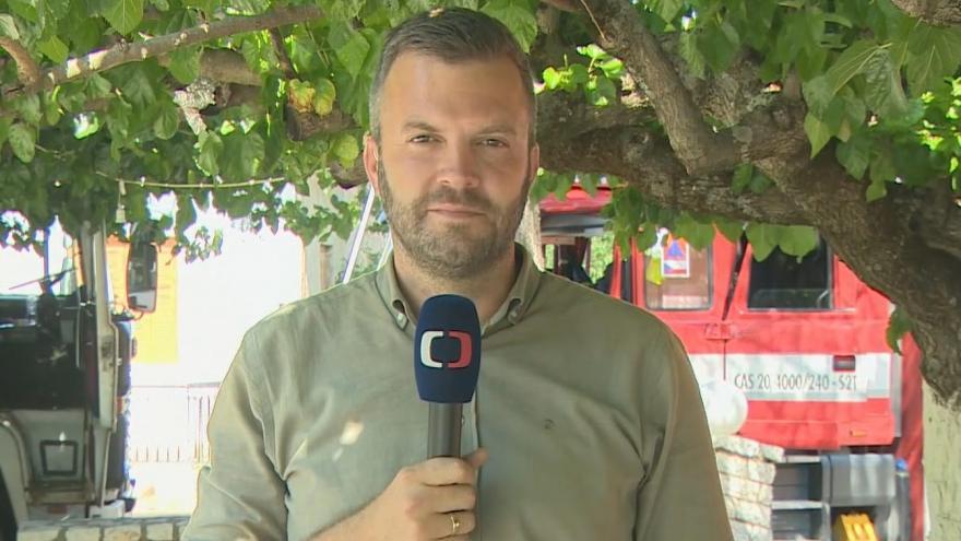 Video Zpravodaj ČT Václav Černohorský o mohutných požárech v Řecku