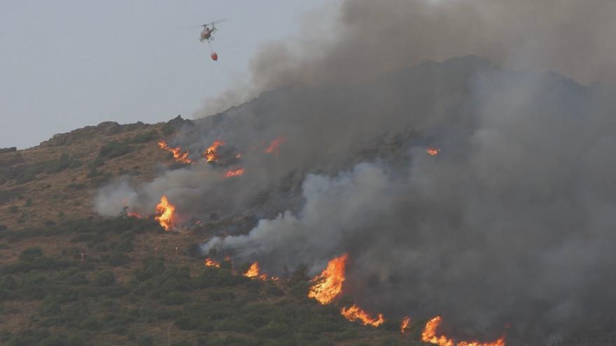 Video Itálii dál sužují lesní požáry. Hasiči bojují s plameny v Kalábrii, Sicílii i Sardinii
