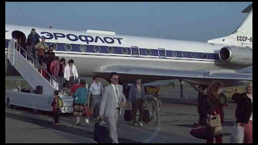 Video První pražský tranzit sovětských Židů na cestě z Moskvy do Izraele