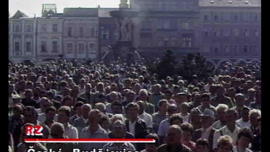 Video Protestní akce v Českých Budějovicích s názvem Pravda o zemědělství