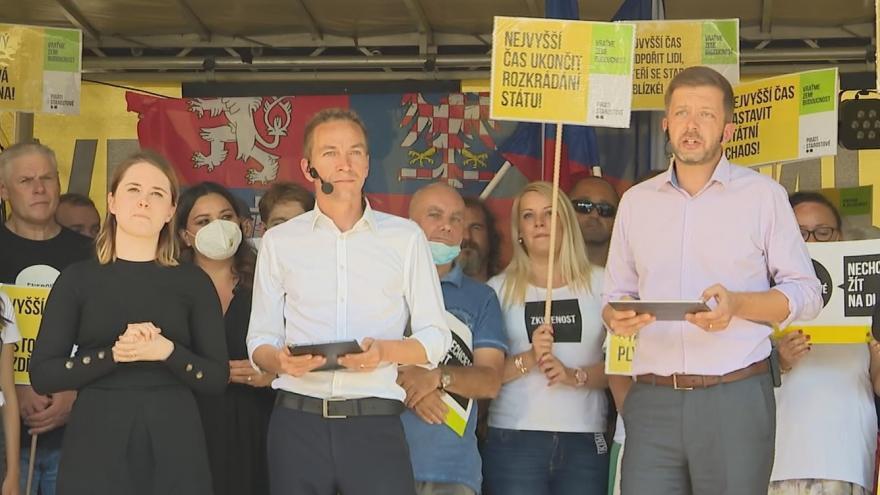 Video Koalice Pirátů a hnutí STAN odstartovala horkou fázi předvolební kampaně