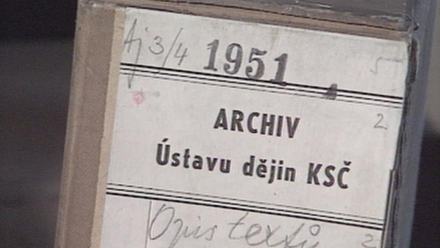 Video Pátrání po svazcích v archivu KSČ