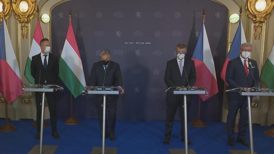 Video Brífink předsedy vlády Andreje Babiše a maďarského premiéra Viktora Orbána