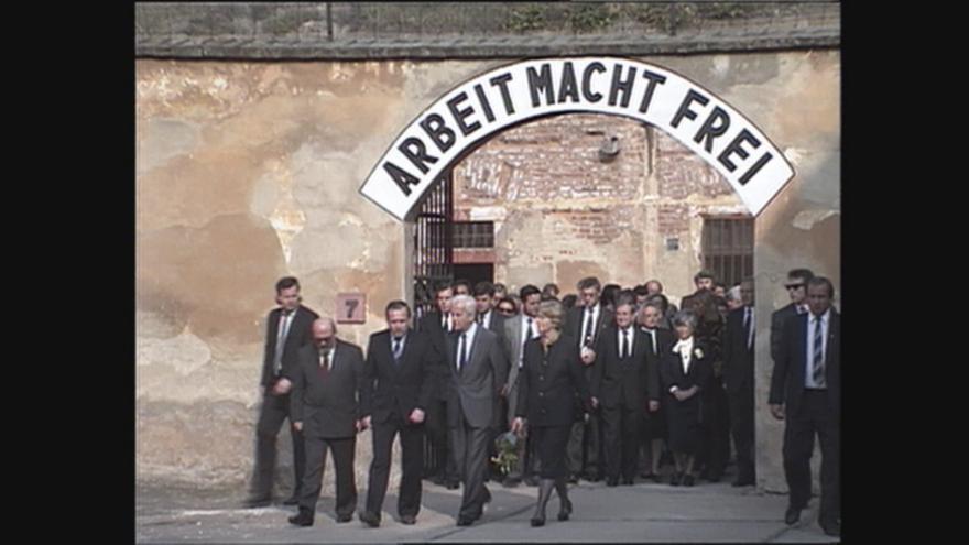 Video Německý prezident navštívil Terezín