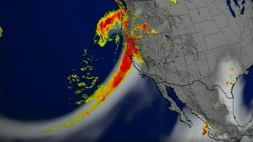 Video Animace množství srážkové kapalné vody v atmosféře