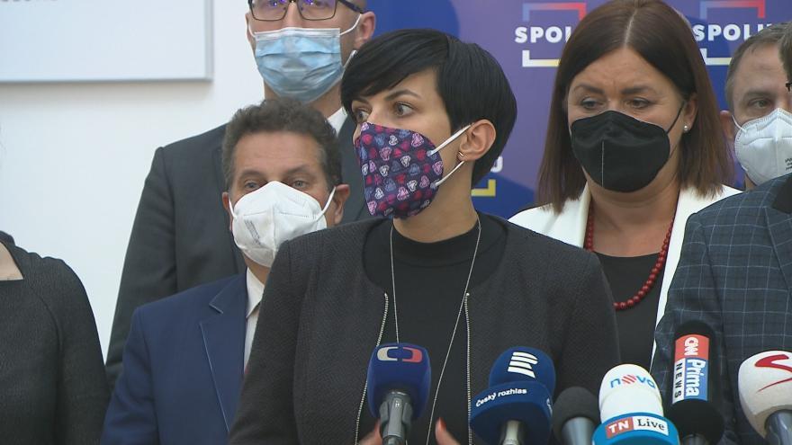 Video Brífink TOP09 k ustavování poslaneckých klubů