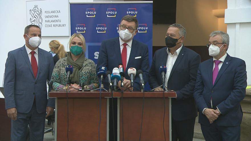 Video Brífink poslaneckého klubu ODS