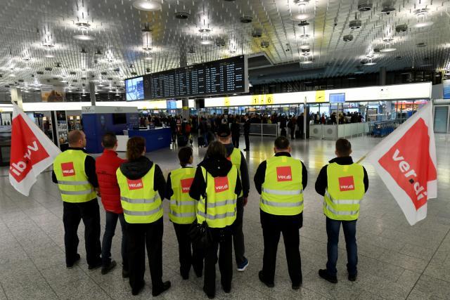 Stávka na letišti v Hannoveru