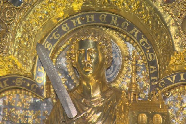 Relikviář svatého Maura. Společně s korunovačními klenoty nejcennější zlatnická památka v Česku