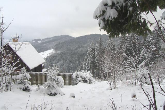 Nový sníh v Beskydech