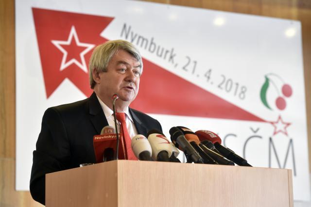 Vojtěch Filip na sjezdu KSČM