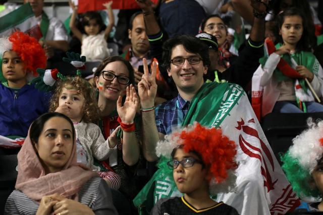 Íránští fanoušci na MS v Rusku