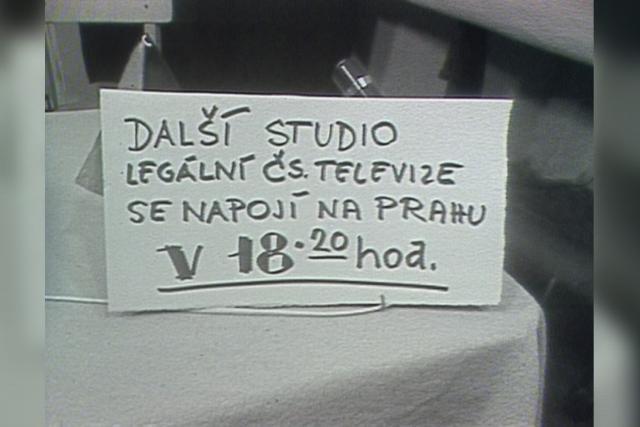 Vysílání Československé televize v srpnu 1968
