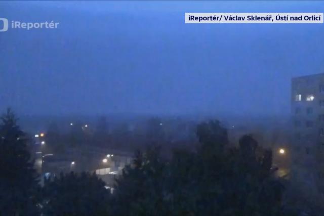 Bouře Fabienne v Ústí nad Orlicí