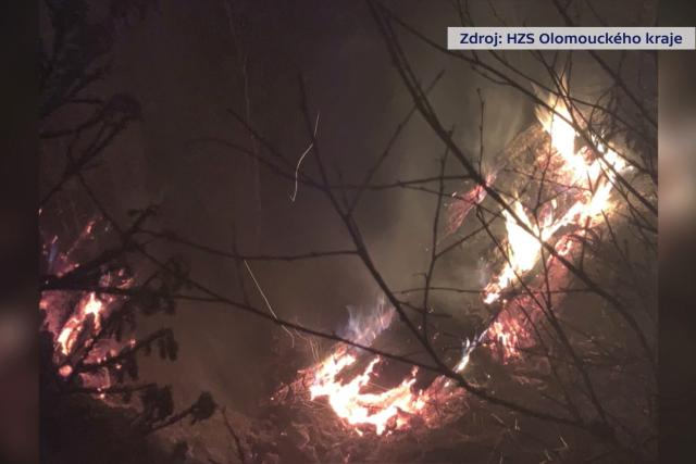 Požár ve vojenském prostoru Libavá