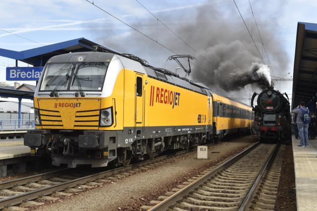 Provoz na nádraží v Břeclavi