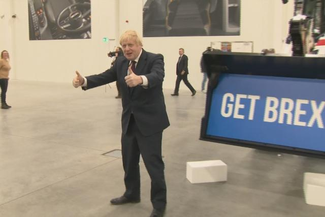 Britský premiér Johnson v kampani před volbami do parlamentu