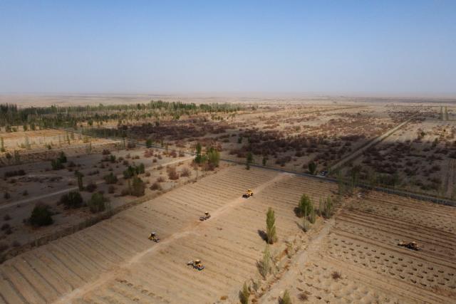 Velká zelená zeď je zalesňovací projekt na území Čínské lidové republiky, který má za cíl pozastavit rozšiřování pouště Gobi