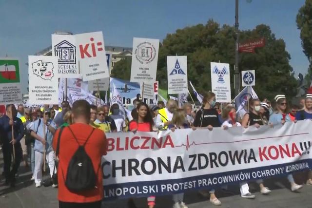 V Polsku protestují zdravotníci
