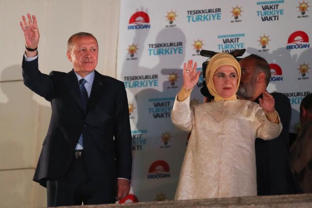 Recep Tayyip Erdogan s manželkou