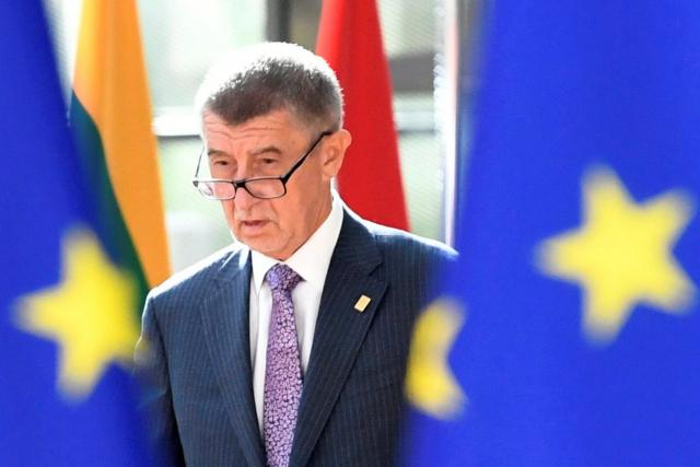 Andrej Babiš na mimořádném summitu EU