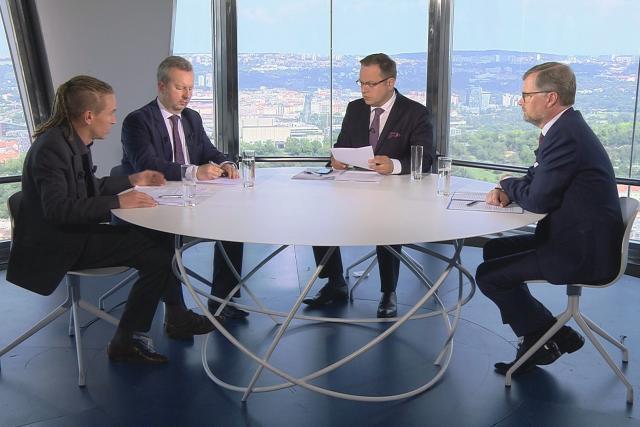 Ivan Bartoš, Richard Brabec a Petr Fiala v OVM