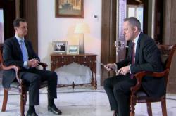 Syrský prezident Bašár Asad a zpravodaj ČT Michal Kubal