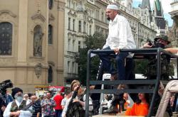 Martin Konvička na Staroměstském náměstí