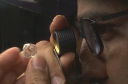 Zpracování diamantů v indickém městě Surat