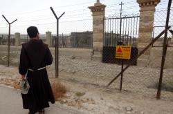 Výstražné nápisy v lokalitě kolem Jordánu