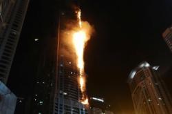 Hořící dubajský mrakodrap Pochodeň