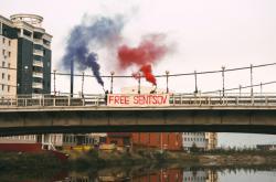 Protest Pussy Riot proti věznění Oleha Sencova