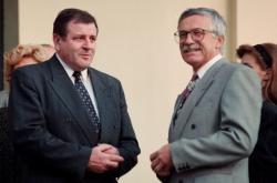 Vladimír Mečiar a Václav Klaus