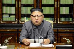 Oficiální fotka Kim Čong-una vydaná k příležitosti jeho prohlášení vůči USA