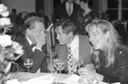 Václav Havel, Jan Tříska a Dagmar Havlová (1995)