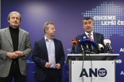 Martin Stropnický, Richard Brabec a Andrej Babiš