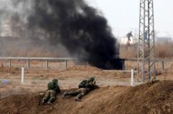 Izraelské jednotky během střetů v Gaze