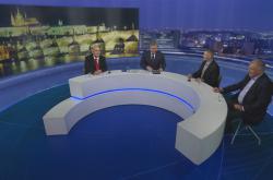 Debata prezidentských kandidátů Hanniga, Hynka a Kulhánka