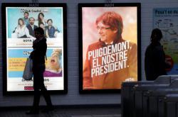 Katalánská předvolební kampaň