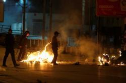 Násilné střety v Tunisu