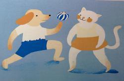 Ilustrace k audioknize Povídání o pejskovi a kočičce s Dejvickým divadlem