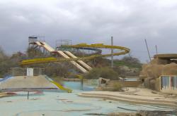 Opuštěný akvapark v Izraeli