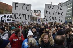Protest pro slovenské vládě v Bratislavě