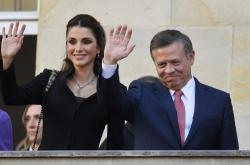 Jordánský král Abdalláh II. s královnou Ranjou