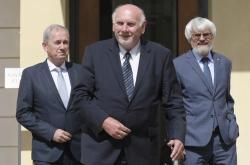 Josef Baxa (vlevo), Pavel Rychetský (uprostřed) a Pavel Šámal