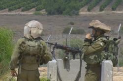 Hlídka na hranicích Izraele a Gazy