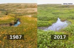 Srovnání snímků z Arktidy