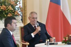 Prezident Miloš Zeman na setkání s velvyslanci
