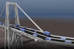 Bortící se most v Janově