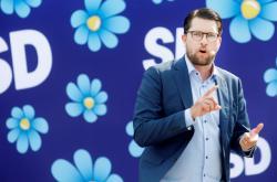 Šéf strany Švédští demokraté Jimmie Akesson